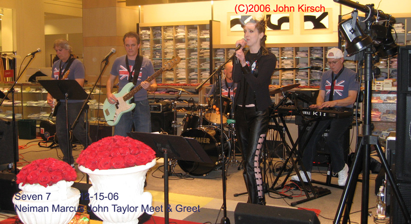 Seven 7 live at Neiman Marcus in Buckhead company party music and is atlanta's company party band in southeast United States